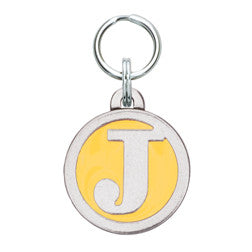 Rockin' Doggie Color Initial Dog Tag - Letter J