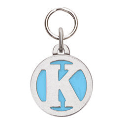 Rockin' Doggie Color Initial Dog Tag - Letter K