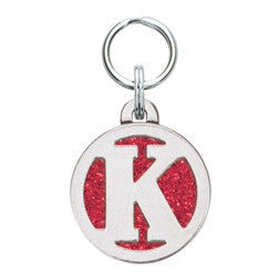 Rockin' Doggie Color Sparkle Initial Dog Tag - Letter K
