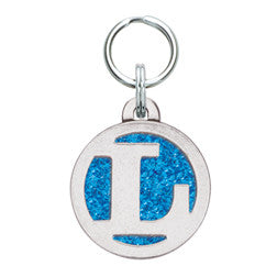 Rockin' Doggie Color Sparkle Initial Dog Tag - Letter L