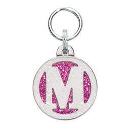 Rockin' Doggie Color Sparkle Initial Dog Tag - Letter M