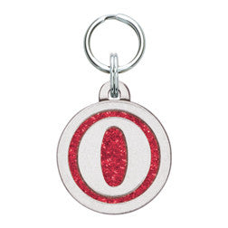 Rockin' Doggie Color Sparkle Initial Dog Tag - Letter O