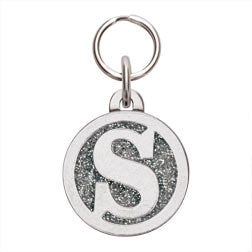 Rockin' Doggie Color Initial Dog Tag - Letter S