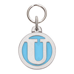 Rockin' Doggie Color Initial Dog Tag - Letter U