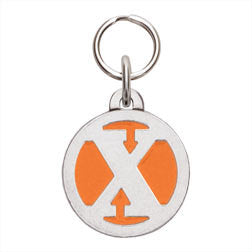 Rockin' Doggie Color Initial Dog Tag - Letter X
