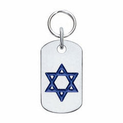 Rockin' Doggie Classic Doggie Tag With Star Of David