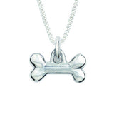 Sterling Silver Necklace - Sculpted Dog Bone