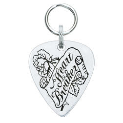 Rockin' Doggie Heart Breaker Pewter Guitar Pick Dog Tag