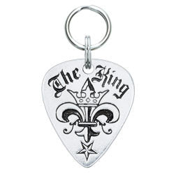 Rockin' Doggie The King Pewter Guitar Pick Dog Tag