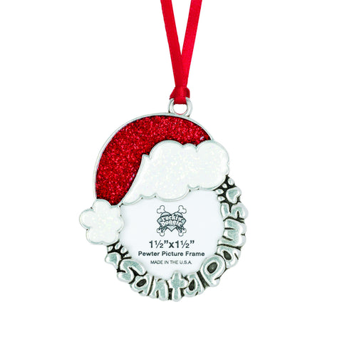 Rockin' Doggie Santa Paws Christmas Ornament
