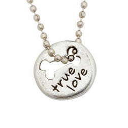 True Love with Bone Pewter Necklace