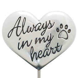 Rockin' Doggie Always In My Heart Memorial Garden Stake