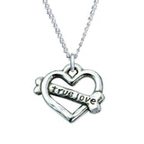 Sterling Silver Heart Necklace - True Love