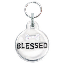 Rockin' Doggie Bubble Dog Tag - Blessed w/Bone