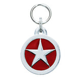 Rockin' Doggie Circle & Star Dog Tag