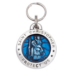 Rockin' Doggie St. Christopher Dog Tag - Blue