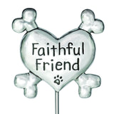 Pewter Faithful Friend Pet Memorial - Garden Stake