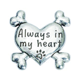 Pewter Heart Dog Magnet - Always in My Heart