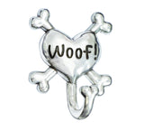 Rockin' Doggie Pewter Dog Leash Hook - Woof