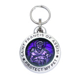 Rockin' Doggie St. Francis of Assisi Dog Tag - Amethyst