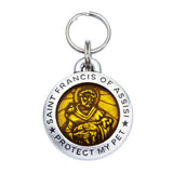 Rockin' Doggie St. Francis of Assisi Dog Tag - Topaz