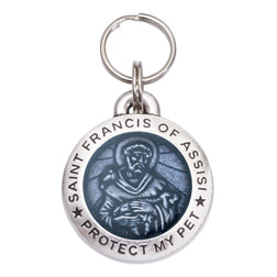 Rockin' Doggie St. Francis of Assisi Dog Tag - Light Hyacinth