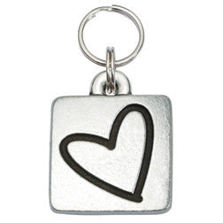 Rockin' Doggie Rounded Square Dog Tag - Heart