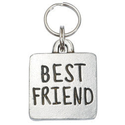 Rockin' Doggie Rounded Square Dog Tag - Best Friend