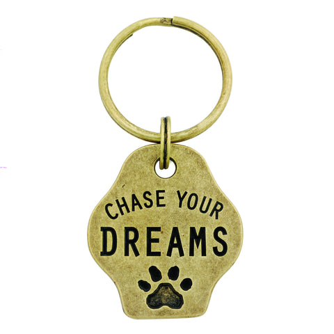 Paw Print Keychain - Chase Your Dreams