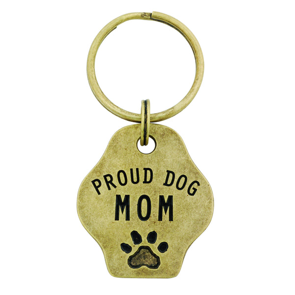 Paw Print Keychain - Proud Dog Mom
