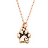 Rose Gold Necklace - Paw With Heart