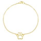 Dog Charm Bracelet - Cut-Out Paw