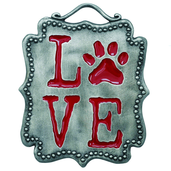 Love Paw Wall Plaque