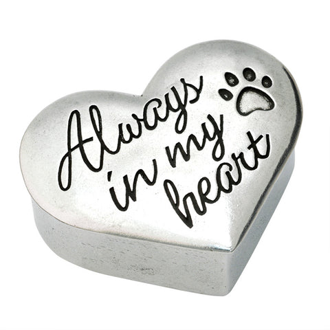 Dog Memorial Trinket Box - Always In My Heart