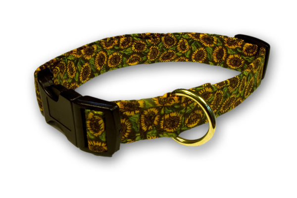 Elmo's Closet Sunflowers Dog Collar