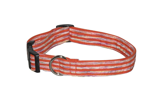 Elmo's Closet Orange Zest Dog Collar
