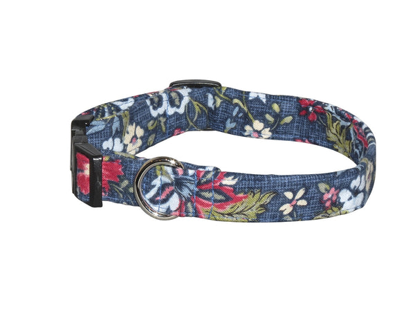 Elmo's Closet Floral Tapestry Dog Collar