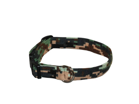 Elmo's Closet Camouflage Dog Collar