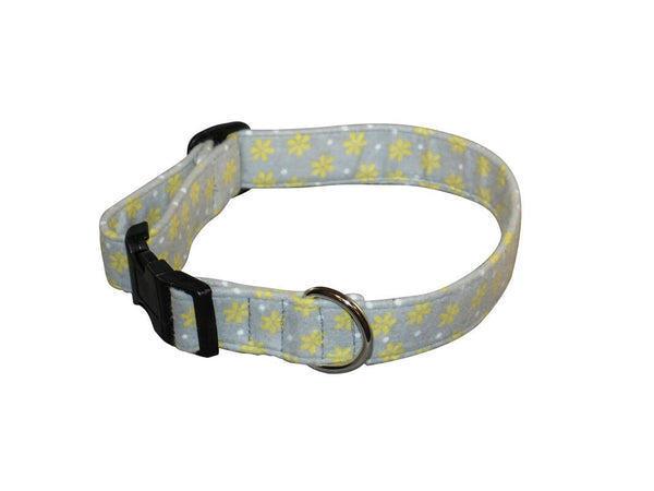 Elmo's Closet Yellow Daisies Dog Collar