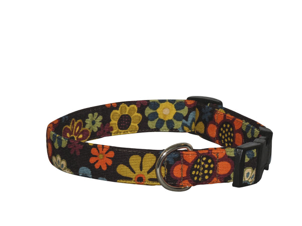 Elmo's Closet Autumn Floral Dog Collar