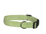 Elmo's Closet Lime Chevron Dog Collar