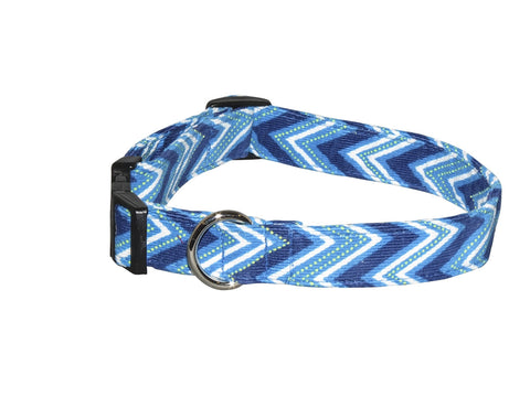 Elmo's Closet Ocean Blue Dog Collar