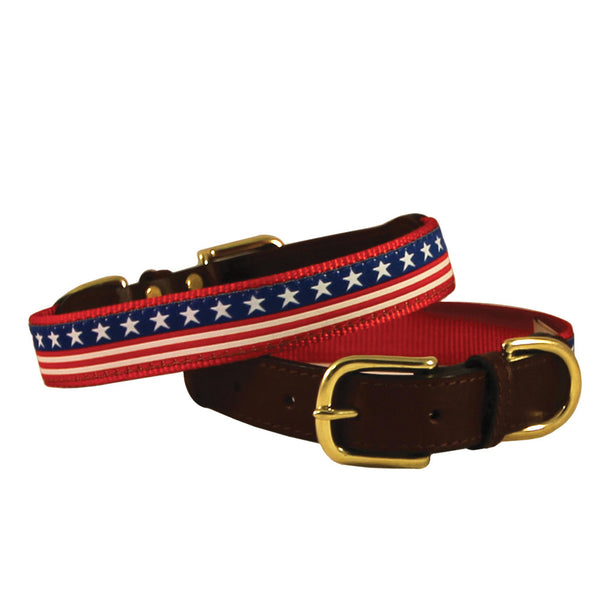 American Traditions Stars & Stripes Dog Collar