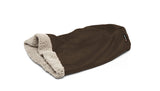 Big Shrimpy Den Dog & Cat Bed - Coffee lying flat