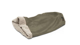 Big Shrimpy Den Dog & Cat Bed - Stone flat