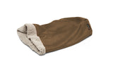 Big Shrimpy Den Dog & Cat Bed - Walnut flat