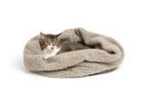 Big Shrimpy Den Dog & Cat Bed - All Fleece
