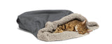 Cat sleeping in Big Shrimpy Den Dog & Cat Bed - Clay