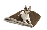 Dog in Big Shrimpy Den Dog & Cat Bed - Walnut