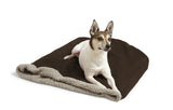 Dog resting on Big Shrimpy Den Dog & Cat Bed - Coffee